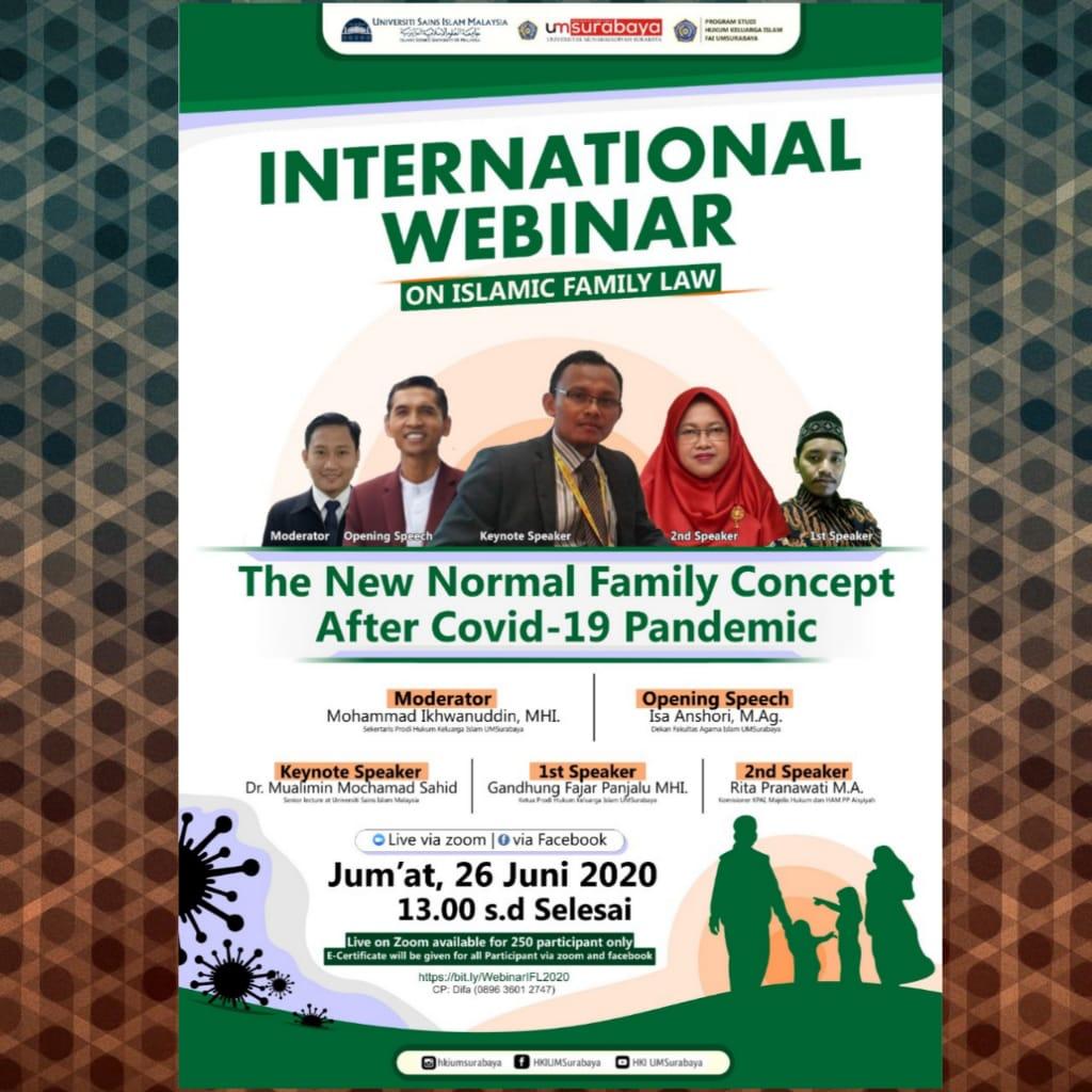 Materi Webinar, Daftar Hadir dan Form E-Sertifikat (Webinar on Islamic Famiy Law 2020)